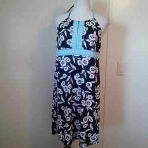 Ann Taylor Loft blue floral dress size 12 petite